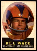 1958 Topps #38 Bill Wade NM Near Mint