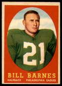 1958 Topps #4 Bill Barnes EX Excellent