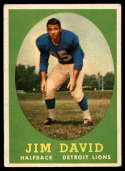1958 Topps #13 Jim David EX Excellent