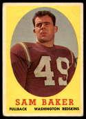 1958 Topps #34 Sam Baker VG/EX Very Good/Excellent