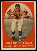 1958 Topps #55 Duane Putnam VG Very Good