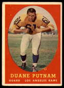1958 Topps #55 Duane Putnam VG/EX Very Good/Excellent