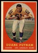 1958 Topps #55 Duane Putnam EX++ Excellent++