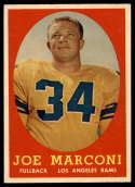 1958 Topps #63 Joe Marconi NM Near Mint RC Rookie
