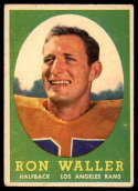 1958 Topps #72 Ron Waller VG/EX Very Good/Excellent