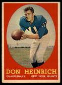 1958 Topps #83 Don Heinrich EX/NM