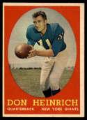 1958 Topps #83 Don Heinrich NM Near Mint