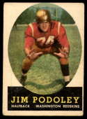 1958 Topps #121 Jim Podoley UER VG Very Good