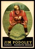 1958 Topps #121 Jim Podoley UER NM Near Mint