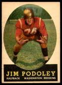 1958 Topps #121 Jim Podoley UER EX/NM