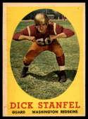 1958 Topps #39 Dick Stanfel NM Near Mint