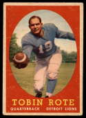 1958 Topps #94 Tobin Rote EX Excellent