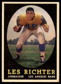 1958 Topps #105 Les Richter EX Excellent