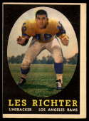 1958 Topps #105 Les Richter VG/EX Very Good/Excellent