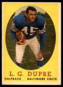 1958 Topps #117 L.G. Dupre EX/NM