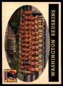 1958 Topps #27 Redskins Team VG Very Good