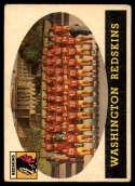1958 Topps #27 Redskins Team VG/EX Very Good/Excellent