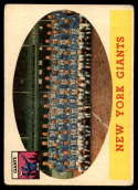 1958 Topps #61 Giants Team VG/EX Very Good/Excellent