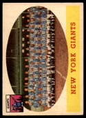 1958 Topps #61 Giants Team EX Excellent