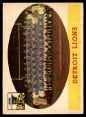 1958 Topps #115 Lions Team EX/NM