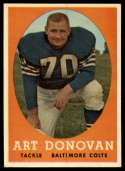 1958 Topps #106 Art Donovan NM Near Mint