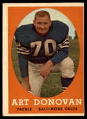 1958 Topps #106 Art Donovan VG/EX Very Good/Excellent