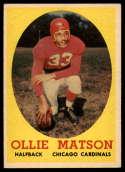 1958 Topps #127 Ollie Matson EX/NM