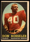 1958 Topps #132 Don Bosseler EX Excellent RC Rookie