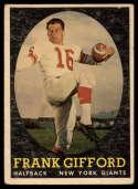 1958 Topps #73 Frank Gifford VG Very Good