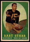 1958 Topps #66 Bart Starr UER VG Very Good