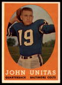 1958 Topps #22 Johnny Unitas UER EX Excellent