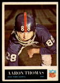 1965 Philadelphia #122 Aaron Thomas VG Very Good RC Rookie