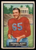 1951 Topps #7 Tom Scott VG Very Good rubbed