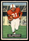 1951 Topps #10 Vic Janowicz VG Very Good rubbed RC Rookie