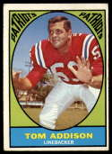 1967 Topps #5 Tommy Addison VG/EX Very Good/Excellent