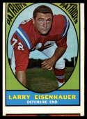 1967 Topps #9 Larry Eisenhauer VG Very Good