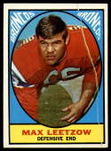 1967 Topps #40 Max Leetzow G/VG Good/Very Good RC Rookie