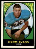 1967 Topps #85 Norm Evans G/VG Good/Very Good