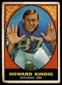 1967 Topps #127 Howard Kindig G Good RC Rookie
