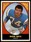 1967 Topps #125 Ron Mix EX Excellent