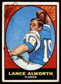1967 Topps #123 Lance Alworth P Poor