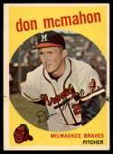 1959 Topps #3 Don McMahon G/VG Good/Very Good