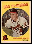 1959 Topps #3 Don McMahon VG Very Good