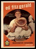 1959 Topps #33 Ed Fitz Gerald VG/EX Very Good/Excellent