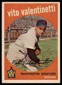 1959 Topps #44 Vito Valentinetti UER EX/NM