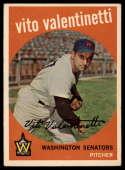 1959 Topps #44 Vito Valentinetti UER EX Excellent