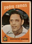 1959 Topps #78 Pedro Ramos VG/EX Very Good/Excellent
