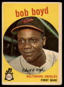 1959 Topps #82 Bob Boyd UER EX Excellent