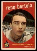 1959 Topps #84 Reno Bertoia EX Excellent