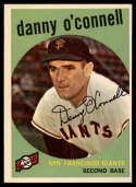 1959 Topps #87 Danny O'Connell NM Near Mint
